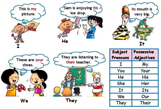POSSESSIVE ADJECTIVES AND PRONOUNS | Welcome to Junior 2 2014