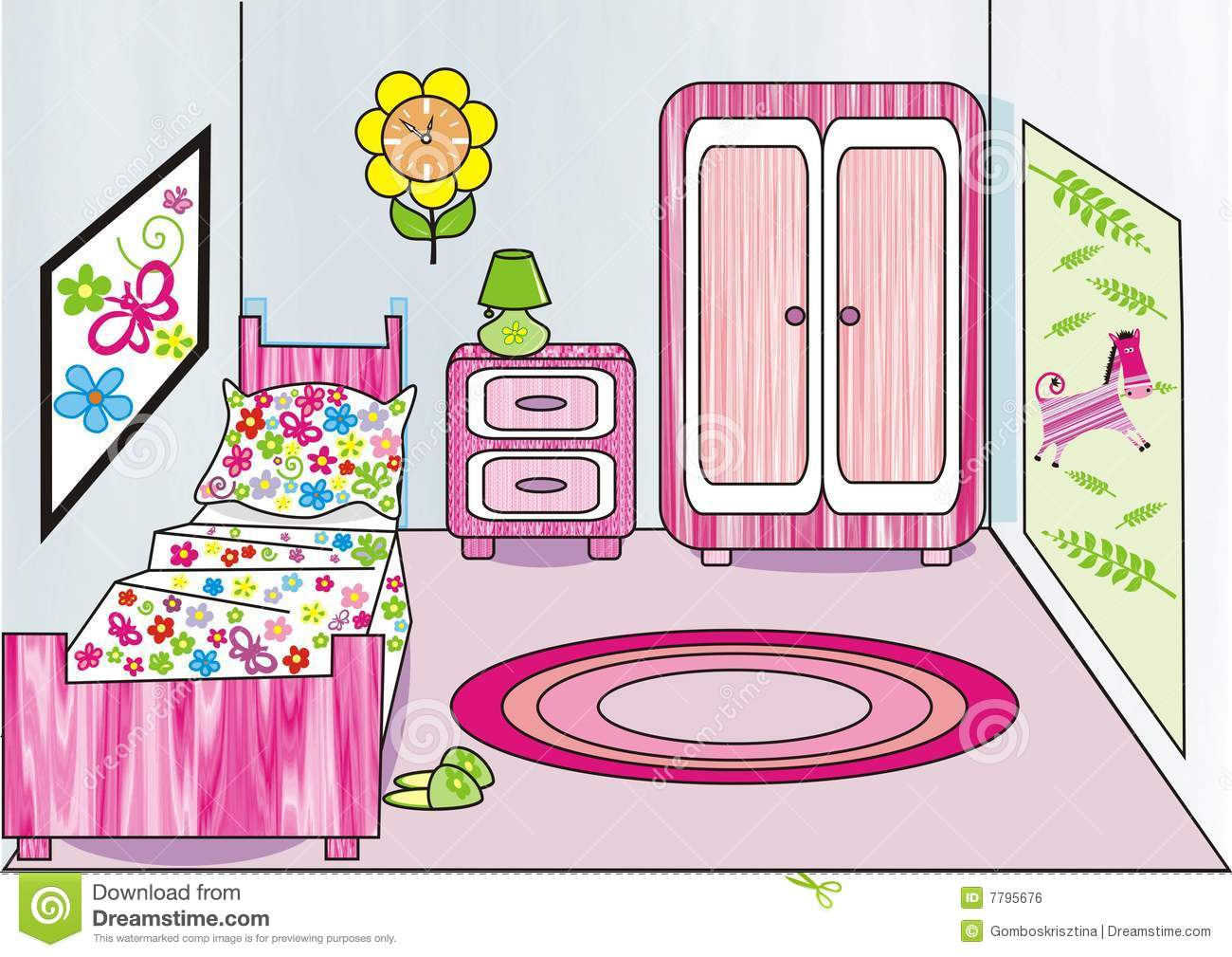 http://www.dreamstime.com/royalty-free-stock-image-girl-s-room-image7795676