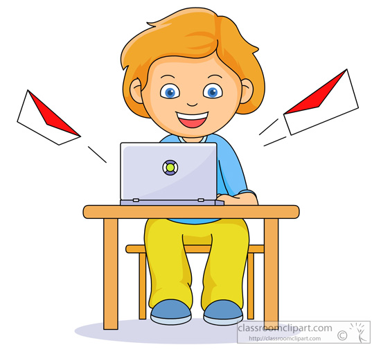 student sending email